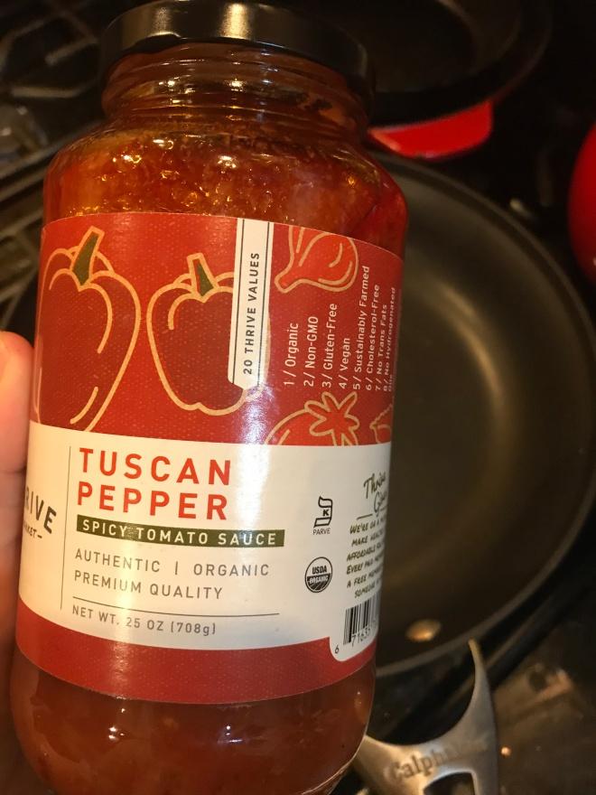 Tuscan Pepper tomato sauce