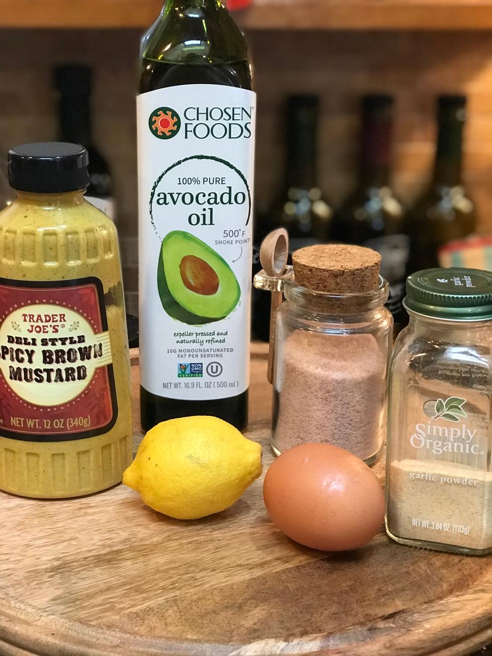 Garlic Aioli Ingredients