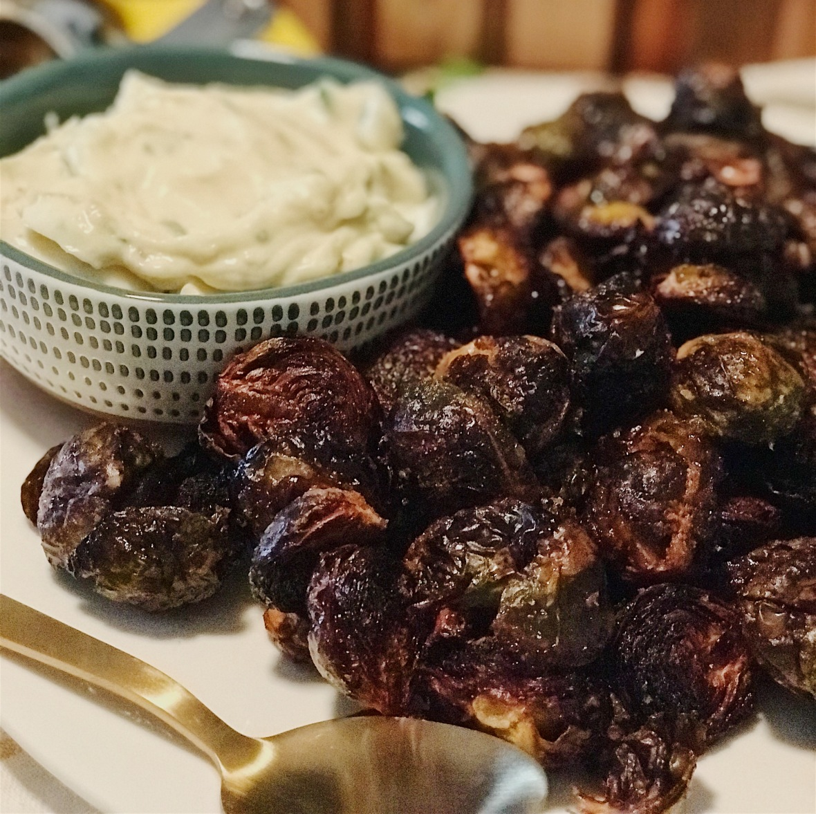 Roasted Brussels Close up
